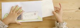 佐藤蕗の手づくりおもちゃ教室/04 「マド付き封筒でこんにちは!」